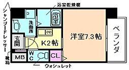 CASSIA福島駅前[2階]の間取り