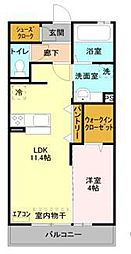 JR京浜東北・根岸線 大宮駅 徒歩19分の賃貸アパート 1階1LDKの間取り