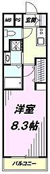 JR中央線 立川駅 徒歩7分の賃貸マンション 1階1Kの間取り