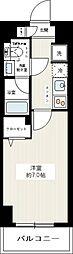 REXZY西川口AZIII 7階1Kの間取り
