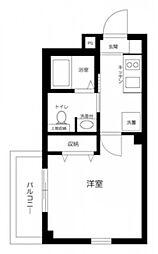 JR京浜東北・根岸線 蒲田駅 徒歩4分の賃貸マンション 1階1Kの間取り