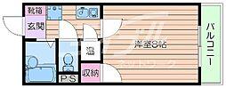 大阪府吹田市津雲台5丁目の賃貸マンションの間取り