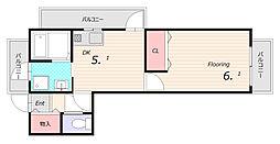 アーネスト須磨[7階]の間取り
