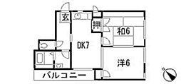 サンスクエアTSURUMI[1階]の間取り