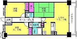 ロイヤルシャトー東加古川[206号室]の間取り