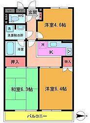 ライオンズマンション市川本八幡[1階]の間取り