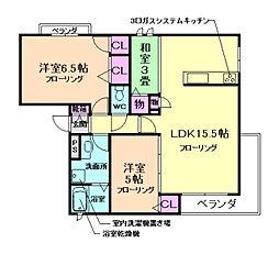 仮称)池田市シャーメゾン井口堂[2階]の間取り