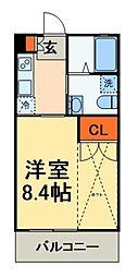 京成本線 大神宮下駅 徒歩8分の賃貸アパート 1階1Kの間取り