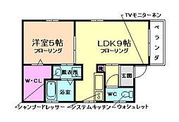パークサイド池田[3階]の間取り