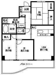 西福岡マリナタウンイーストコート3号棟[204号室]の間取り