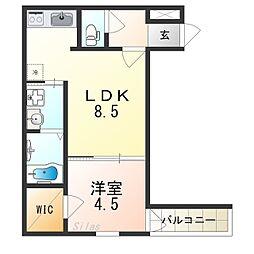(仮称)フジパレス千代田五丁目 1階1LDKの間取り