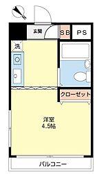ハイネス鹿島田[305号室]の間取り