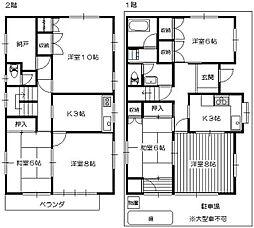 [一戸建] 埼玉県所沢市旭町 の賃貸【/】の間取り