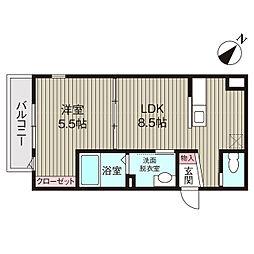 千葉県市川市末広2丁目の賃貸アパートの間取り