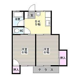 第大金アパート[2号室]の間取り