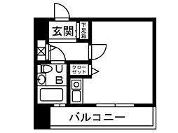 ダイナコート大博通り[204号室]の間取り