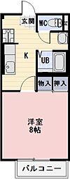 静岡県掛川市今滝の賃貸アパートの間取り