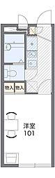 京王高尾線 狭間駅 徒歩26分の賃貸アパート 1階1Kの間取り