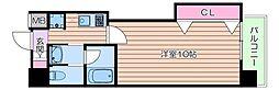 北大阪急行電鉄 江坂駅 徒歩3分の賃貸マンション 7階1Kの間取り