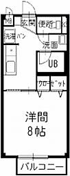 愛知県小牧市小木3丁目の賃貸アパートの間取り