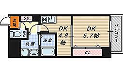 Krehl宿院[4階]の間取り