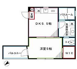 JR中央線 阿佐ヶ谷駅 徒歩16分の賃貸マンション 4階1DKの間取り