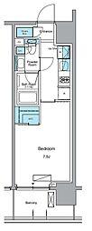 JR山手線 上野駅 徒歩13分の賃貸マンション 10階1Kの間取り