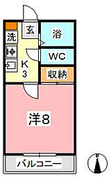 カランドリエ松島[203号室]の間取り