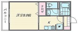 セジュールM・S[212号室]の間取り