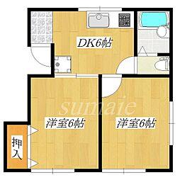 志茂サニーハイツ[2階]の間取り
