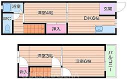 [一戸建] 大阪府大阪市都島区都島本通2丁目 の賃貸【/】の間取り