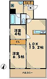 京王相模原線 京王多摩センター駅 徒歩1分の賃貸マンション 8階1SLDKの間取り