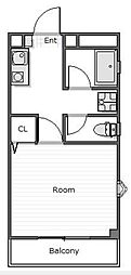 ハイホーム的場[406号室]の間取り