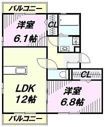 スカイマンションKM[3階]の間取り