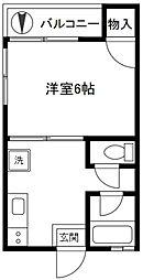 秀和ハイツ[1階]の間取り