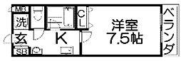 ヒルサイドテラス[2階]の間取り