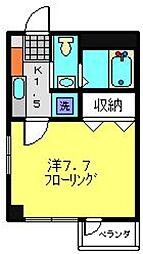 神奈川県川崎市高津区新作5丁目の賃貸マンションの間取り