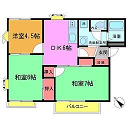 平松ハイツ[A101号室]の間取り