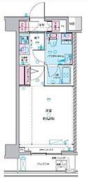 GENOVIA武蔵関公園skygarden 2階1Kの間取り