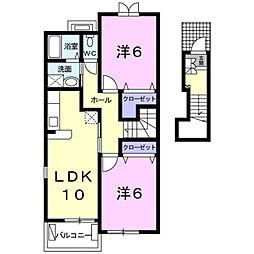シンシア[2階]の間取り