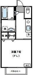 神奈川県川崎市多摩区堰2丁目の賃貸アパートの間取り