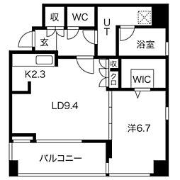 ラクレイス平尾ステーション[9階]の間取り
