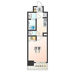 レオンヴァリエ大阪ベイシティ 6階1Kの間取り