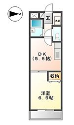 ハピネスK2番館[2階]の間取り