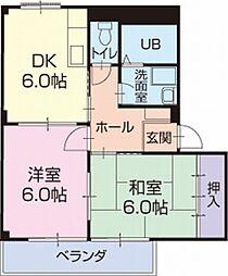 愛知県岡崎市大和町の賃貸アパートの間取り