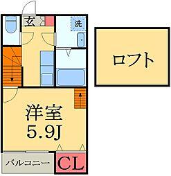 stage幕張[2階]の間取り
