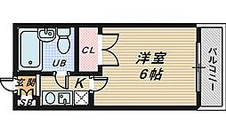 レジデンス北花田[7階]の間取り