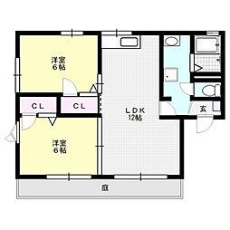 フリーデン8[1階]の間取り