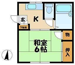 マルテルA[2階]の間取り