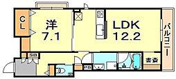 (仮称)シャーメゾン神戸市東灘区深江南町 3階1LDKの間取り